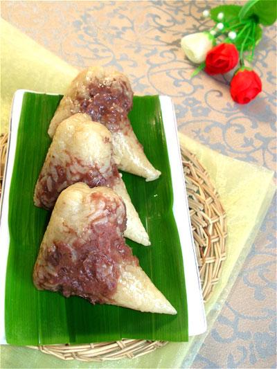 天蝎座--豆沙粽